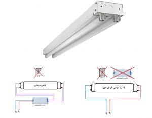 آموزش سیم کشی لامپ مهتابی